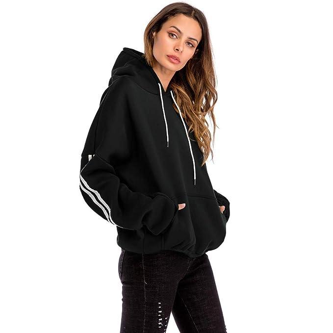 LAND-FOX Mujer Sudadera Estampada con Capucha, Mujer Suéter de Algodón con Estampado: Amazon.es: Ropa y accesorios