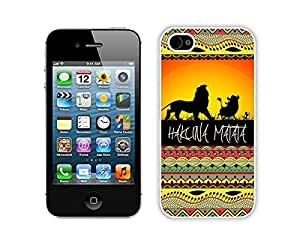 Case For Iphone 5C Cover Durable Soft Silicone PC Hakuna Matata Elegant White Cell Phone for Iphone 5C