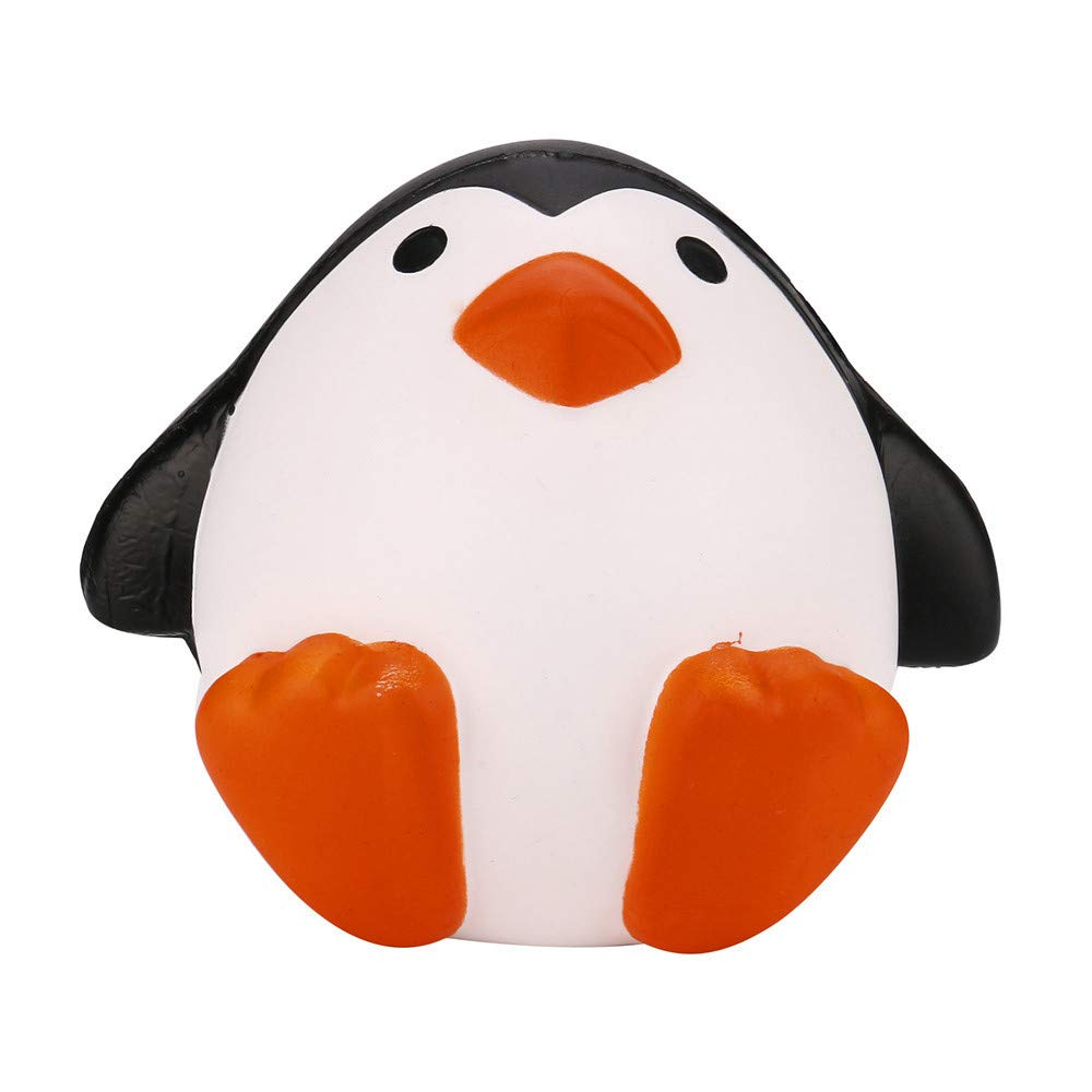 Kirbyates_Toys Cartoon Stress Relief Penguins Squishy Slow Rising Cream Scented Decompression Toy for Gifts