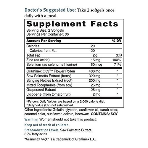Dr. Sinatra's Prostate Solutions Supplement, 60 softgels (30-day supply) by Dr. Sinatra (Image #2)