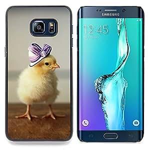 "Qstar Arte & diseño plástico duro Fundas Cover Cubre Hard Case Cover para Samsung Galaxy S6 Edge Plus / S6 Edge+ G928 (Lindo patito bebé"")"