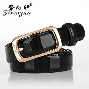 f614b4ff7531 SILIU  Sauvage boucle ardillon cuir vernis cuir ceinture femme fine ceinture  en cuir étroit)