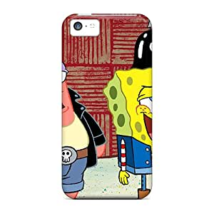 Rugged Skin Cases Covers For Iphone 5c- Eco-friendly Packaging(spongebob)