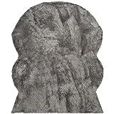 Safavieh FSS115D-8 Faux Silky Sheepskin Grey Area Shag Rug (8' x 10')