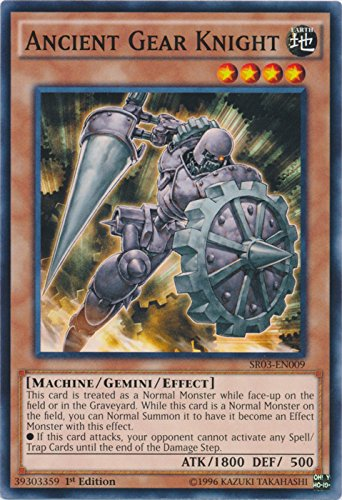 Ancient Gear Knight - SR03-EN009 - Common - 1st Edition - Structure Deck: Machine Reactor (1st - Knight Gear