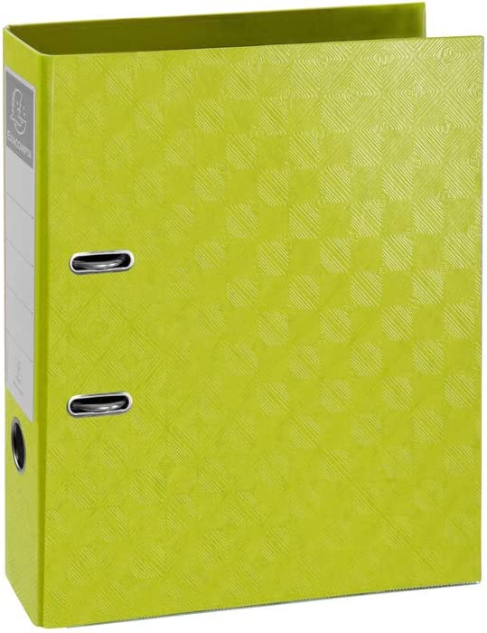 Exacompta 1928 Lever Arch File A4 70mm Spine 2 Ring Lime Green