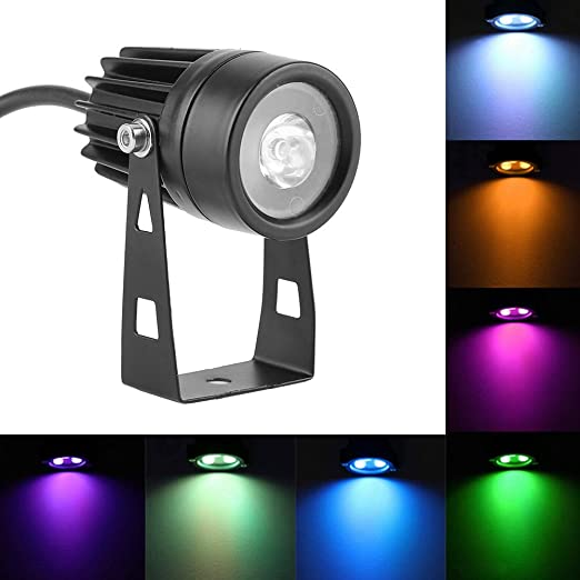 Luces LED para paisajes, 6W Brillante RGB Colorido Lámpara ...