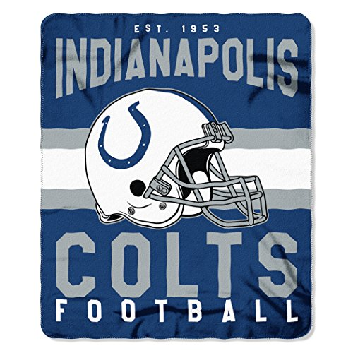 (The Northwest Company NFL Indianapolis Colts Singular Fleece Throw, 50-inch by 60-inch, Blue )