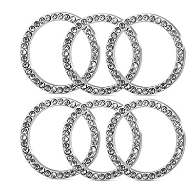 1Pcs Crystal Rhinestone Ring for Car Decor, Auto Engine Start Stop Decoration Crystal Interior Ring Decal for Lexus CT200H GX400 GX460 IS250 IS300C RX270 RX 350 ES240 ES350 LS460 GS300 450h 460h, etc: Automotive