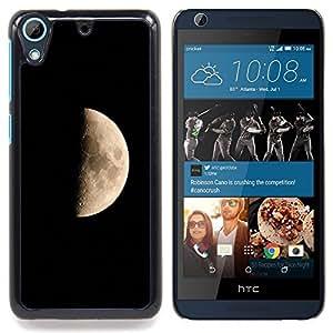 "Qstar Arte & diseño plástico duro Fundas Cover Cubre Hard Case Cover para HTC Desire 626 (Dark Moon Side Paisaje Cráteres Universo Cielo"")"