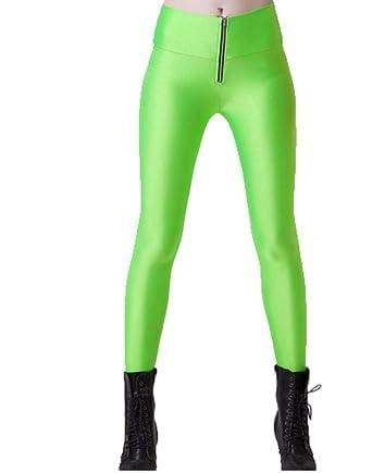 01802c993f540 Sexy Neon Green Disco Pants Leggings Jeggings Fancy dress Clothing one size  8 10 12: Amazon.co.uk: Clothing