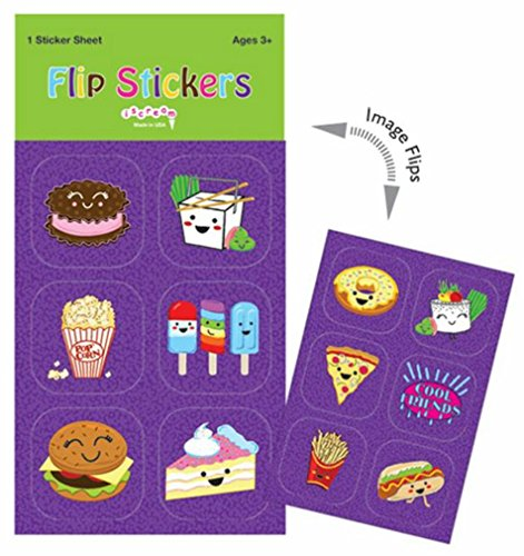 Lenticular Stickers (iscream 'Snack Attack' Pack of 6 1