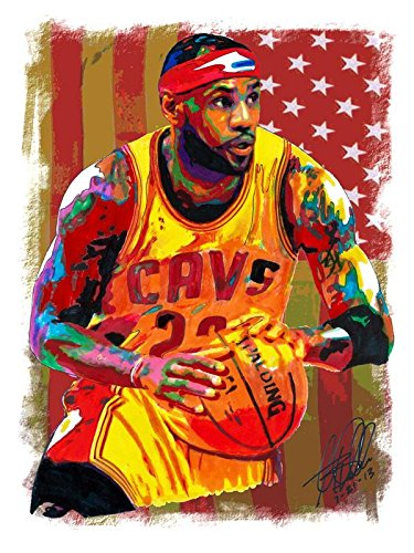 Cavaliers Wall Framed (LeBron James Basketball Player Sportsman 12 x 18 Inch Quoted Multicolour Rolled Poster)