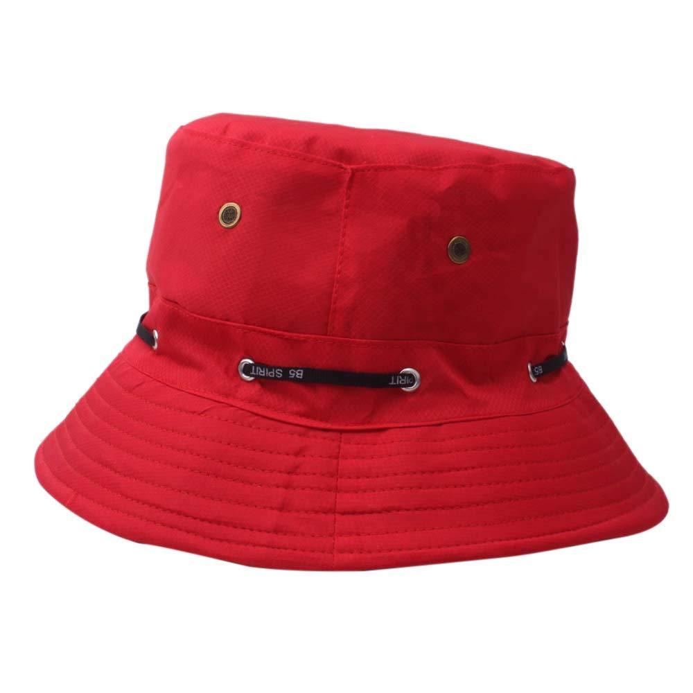 Mitlfuny Adult Men And Women Cap Classic Solid Color Fishermans Hat Cap Outdoor Sun Hat Travel Casual Pot Bucket Hat