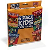Bicycle 6 Pack Kids Playing Cards Games Go Fish Crazy 8's Old Maid Slapjack New