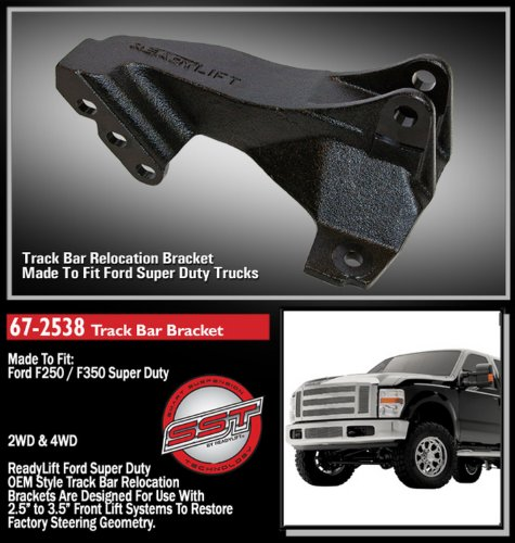 ReadyLift 67-2538 Track Bar Relocation Bracket for F250/F350/F450 by Readylift (Image #1)