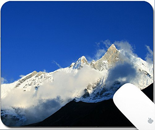 Price comparison product image Luxlady Gaming Mousepad 9.25in X 7.25in IMAGE: 34505926 Mount Machhapuchhare the fish tail in evening clouds Pokhara Nepal