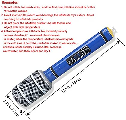 Amazon.com: OULII Inflatable Microphones Plastic Microphone ...