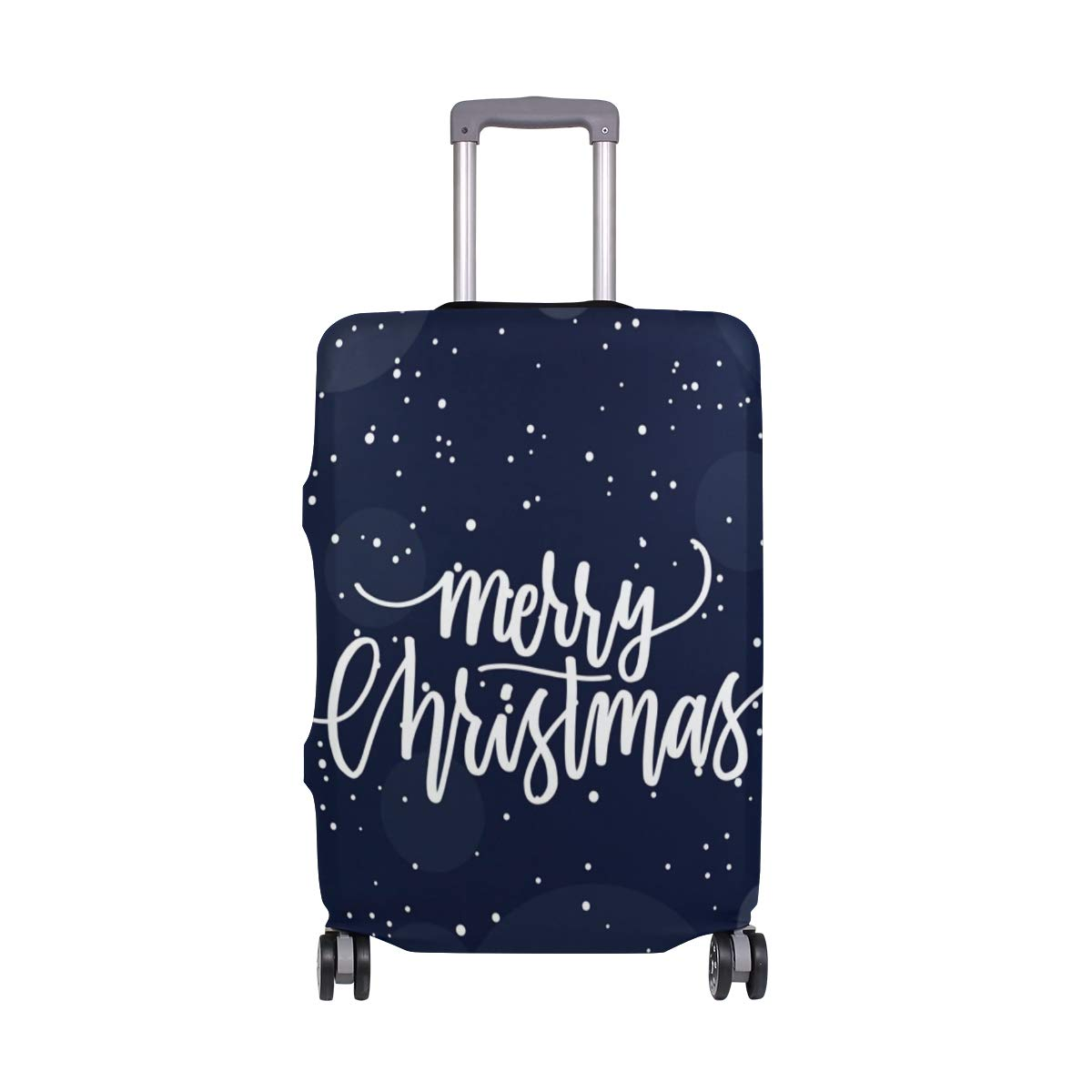 Nanmma Cute 3D Merry Christmas Pattern Luggage Protector Travel Luggage Cover Trolley Case Protective Cover Fits 18-32 Inch