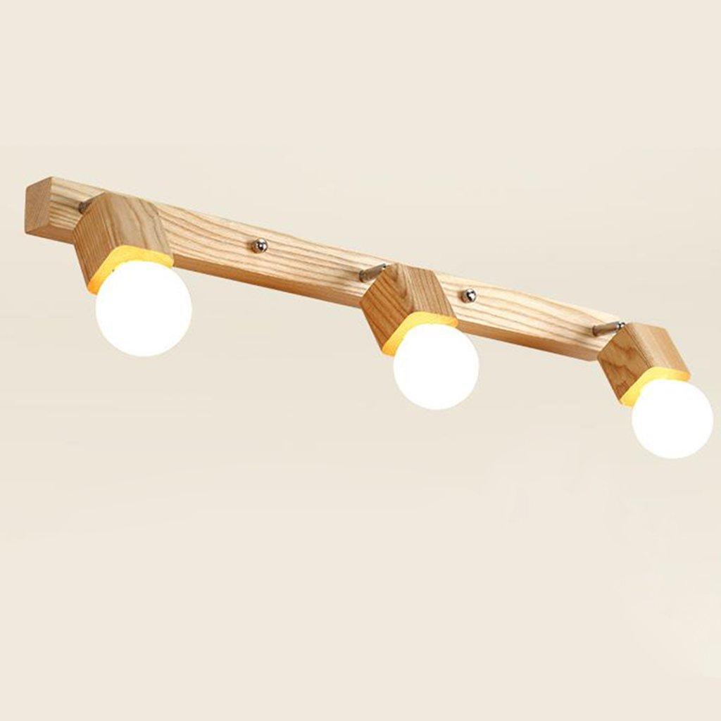 badezimmerlampe Spiegel Vorderseite Licht Einfache Badezimmer Spiegel Licht Bad Wand Lampe Make-up Lichter Led Spiegel Schrank Lichter Massivholz Kleider Tischlampe (Größe   72  4.3  24CM)