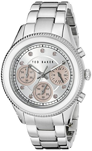 Ted Baker Women's TE4108 Dress Sport Analog Display Japanese Quartz Silver-Tone Watch
