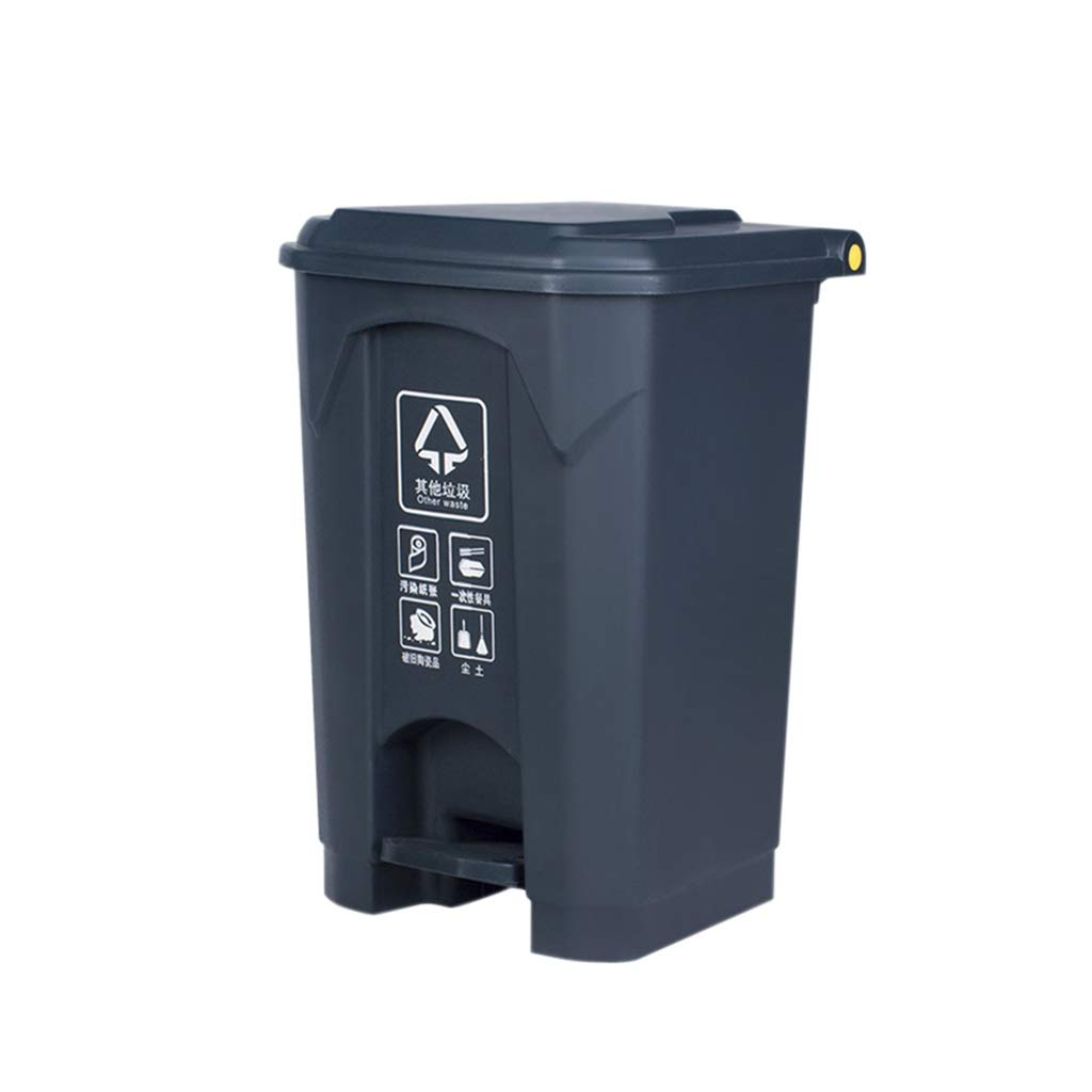 Kffc Big Trash Can,Foot Open Cover,Can Be Hung On The Car,42.539.560 cm, Gary