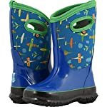 Bogs Classic High Waterproof Insulated Rubber Neoprene Rain Boot Snow, Planes Blue/Multi, 11 M US Little Kid
