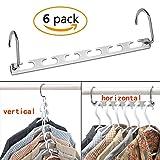 CBTONE 6 Pack Closet Space Saving Hangers, Multi-Purpose Metal Magic Hangers for Organizing Wardrobe Clothing Hanger