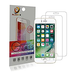 Planet B - Apple iPhone 6/6s/7/8 [2 Pack] Tempered Glass Screen Protector
