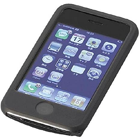 d4de3874dd Amazon | ELECOM SoftBank iPhone 3G用 シリコンケース ブラック MPA-SCAPHBK | ケース・カバー 通販