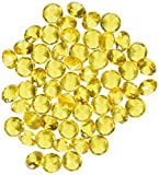 Homeford FPF0750433GD 240 Piece Acrylic Diamond Gemstone Table Scatter, 3/4'', Gold