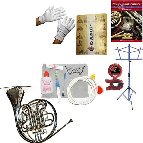 RS Berkeley FR806 Artist Series Double Horn & Bonus RSB MEGA PACK w/Standard of Excellence Book by RS Berkeley