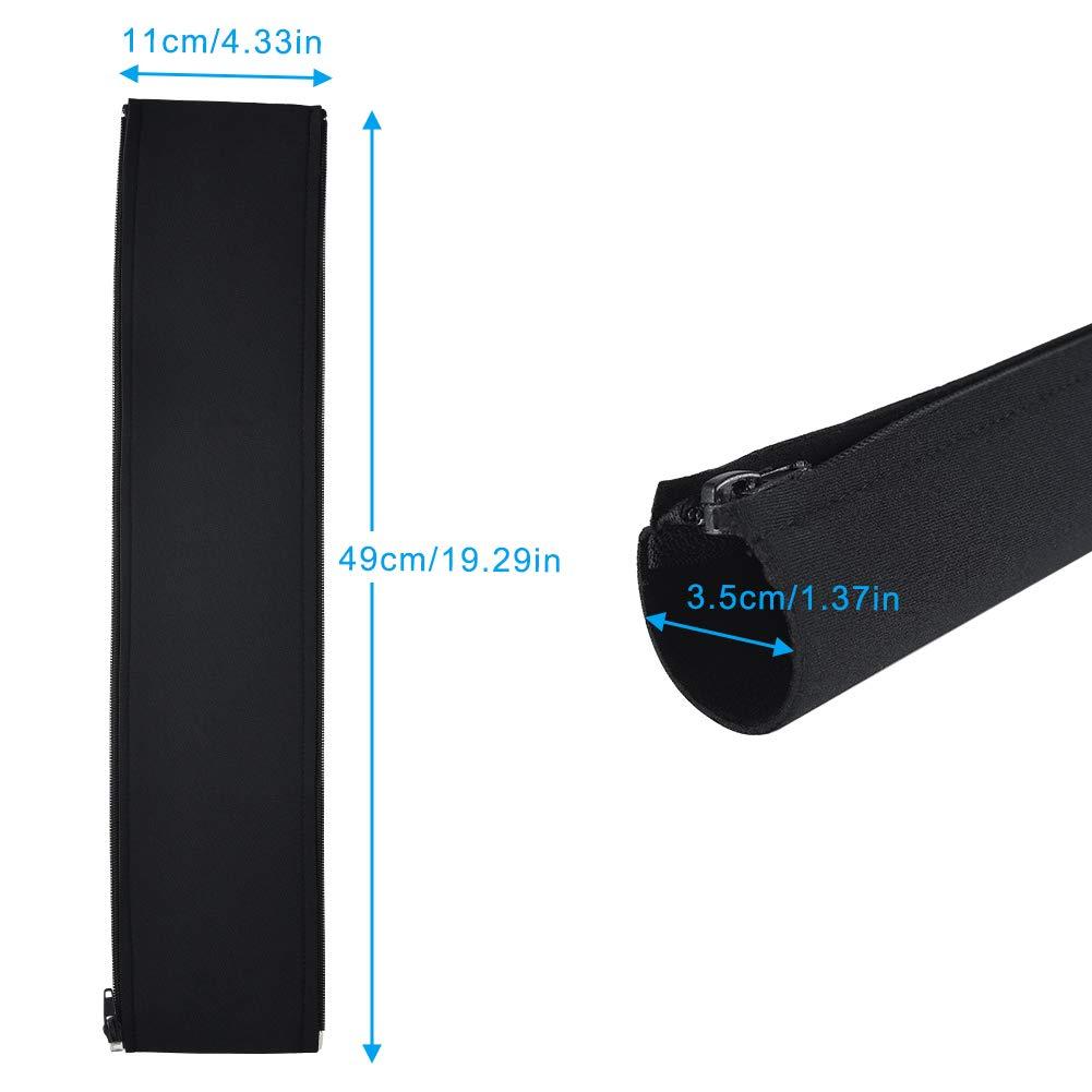 Cizen 4Pz Guaina per Cavi Guaina Flessibile Organizzatore Cavi in Neoprene con Cerniera per TV//Computer// Audio Manicotti Protezione