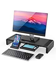 Monitor Stand Riser, Jelly Comb Foldable Computer Monitor Riser, Computer Stand with Storage Drawer, Phone Stand for Computer, Desktop, Laptop, Save Space