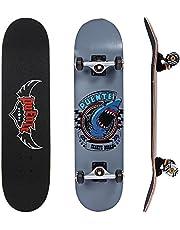 NACATIN Skateboard Komplettboard für Kinder Jungendliche und Erwachsene mit T Tool Werkzeug ABEC-9 Kugellager und 8-lagigem Ahornholz 95A Rollenhärte Funboard 80 x 20 x 11cm Belastung 180 KG für Anfänger und Profis