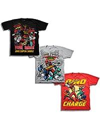 Boys' Little Boys' Super Dino Charge 3 Pack T-Shirt Bundle