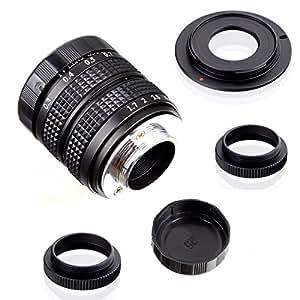 Fujian 35mm f/1.7 CCTV cine lens for Sony NEX E-mount camera & Adapter bundle for Sony NEX7 NEX-F3 a6000 a5000 a3500