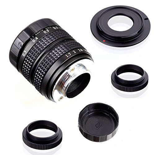 Fujian 35mm f/1.7 CCTV cine lens for Sony NEX E-mount camera & Adapter bundle for Sony NEX7 NEX-F3 a6000 a5000 a3500 by FUJIAN