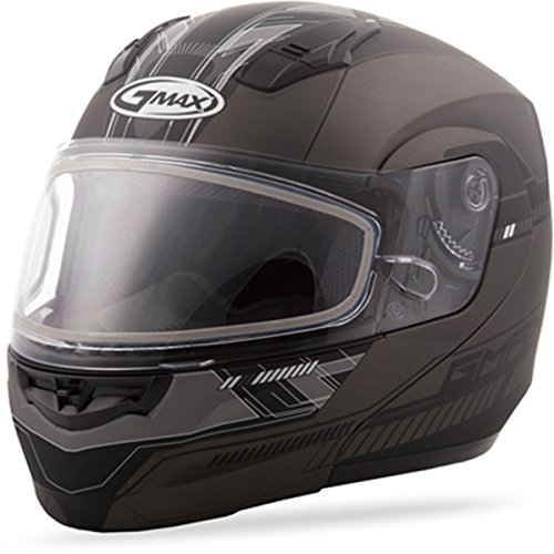 GMAX G2041456TC-21F unisex-adult full-face-helmet-style Helmet (04 Snow Modular) (Flat Dark Silver, Large) ()