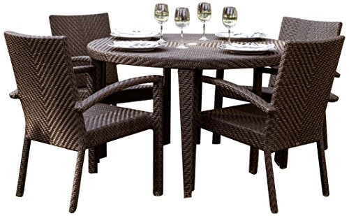 Hospitality Rattan 5 PC SET-903-D2 Soho 5 Piece Dining Group