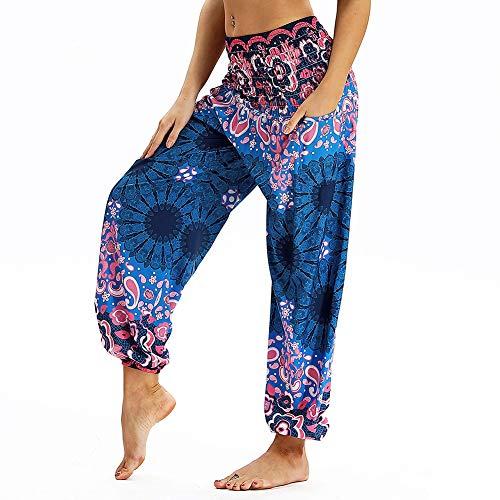 dilake Dames boho yogabroek harembroek hippie flowy casual strandbroek hoge taille eenheidsmaat