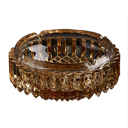 Creative Amber Round Star Shape Crystal Fashion Glass Ashtray, Suitable for Indoor and Outdoor Hotel Decorative Hotel Ashtray