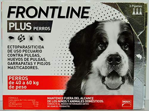 Frontline Plus for Dogs 4588 lbs Purple, 3 Month