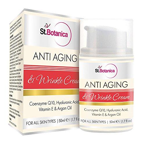 St.Botanica AntiAging & Wrinkle Cream 50ml (With Co-Q10, Hyaluronic acid, Vitamin E & Argan Oil)