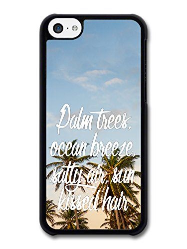 Palm Trees Ocean Sun Summer Inspirational New Cool Style Design coque pour iPhone 5C