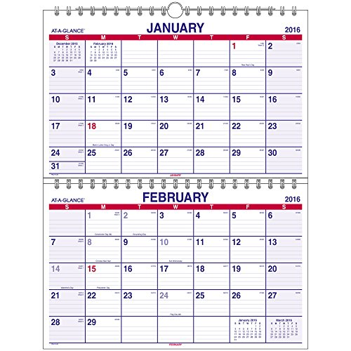 GLANCE Two Month Calendar Months PMLF9 28