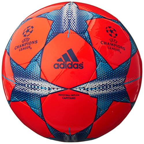 adidas Performance Finale 15 Capitano Soccer Ball, Solar Red/Solar Orange/Bold Blue, 5 by adidas