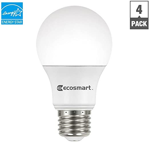 Ecosmart A19 A460st Q1d 01 40w Equivalent Dimmable Led Light Bulb Soft White Pack Of 4