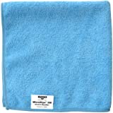 "Unger ME40B MicroWipe UltraLite Microfiber Cloth, 16"" Length x 16"" Width, Blue (Case of 10)"