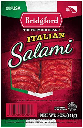 Bridgford Sliced Italian Salami, Gluten Free, Made in the USA, 5 Oz, Pack of 3